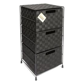 image-Stephanie 3 Drawer Chest Brambly Cottage Colour: Black