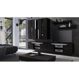 "image-Marble Hill Entertainment Unit for TVs up to 50"" Brayden Studio Colour: Black Gloss/White Gloss"