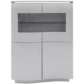 image-Vida Living Lazzaro Light Grey Matt Display Cabinet with LED