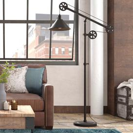 image-Carlisle 161.3cm Reading Floor Lamp Blue Elephant