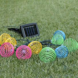image-10 Light LED Solar Powered Spiral Latern String Light Sol 72 Outdoor