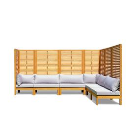 image-Habitat Samoa Modular Corner Sofa Set - Light Wood