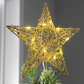 image-Sprinky Christmas Star Tree Topper Three Posts Colour: Gold