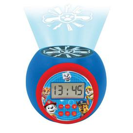 image-Lexibook Paw Patrol Childrens Projector Clock with Timer
