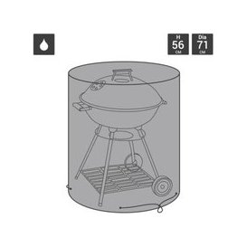image-Premium Polyester Waterproof Kettle Garden Barbecue Cover - Black