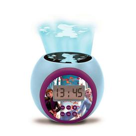 image-Lexibook Disney Frozen II Childrens Projector Clock with Time