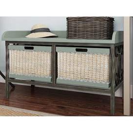 image-Gainseville Wood Storage Bench ClassicLiving Colour: Grey