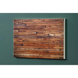 image-Wooden Boards Motif Pin Board Magnetic Wall Mounted Photo Memo Board