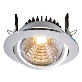 image-Cob 1-Light LED Slim Profile Recessed Lighting Kit Deko Light Colour: nickel, Farbtemperatur des Leuchtmittels: 3000K