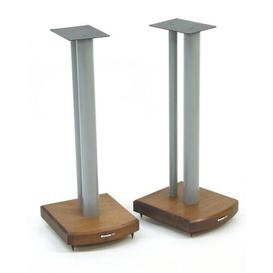 image-60cm Fixed Height Speaker Stand Symple Stuff Finish: Silver/Dark Bamboo