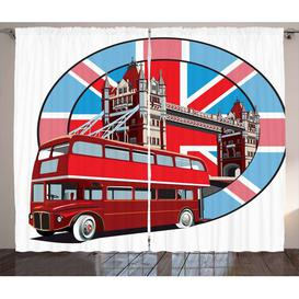 image-London Pencil Pleat Blackout Thermal Curtains East Urban Home Dimensions per curtain: 140 W x 260 D cm