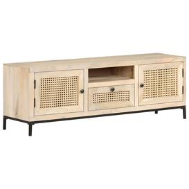 image-Bay Isle Home TV Cabinet 120X30x40 Cm Solid Mango Wood And Natural Cane