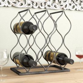 image-Jaden 8 Bottle Tabletop Wine Glass Rack Marlow Home Co.