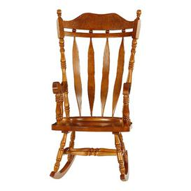 image-Anheuser Rocking Chair Three Posts Colour: Oak