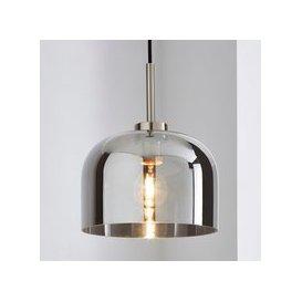 image-Palazzo Smoked Glass Pendant Ceiling Fitting Chrome
