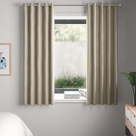 image-Falkner Eyelet Room Darkening Thermal Curtains Brambly Cottage Colour: Cream, Size per Panel: 229 W x 137 D cm