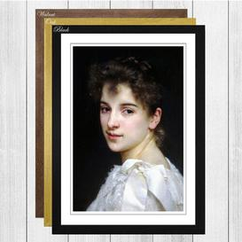 image-'Gabrielle Cot' by William Adolphe Bouguereau Framed Painting Print Big Box Art Frame Colour: Walnut