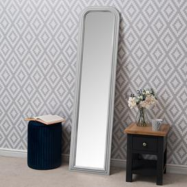 image-Salzburg Grey Arched Leaner Hallway Mirror 40 x 160cm