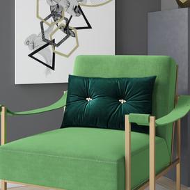 image-Horton Boudoir Cushion with Filling Rosdorf Park Colour: Emerald Green