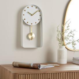 image-Metal Pendulum Clock White