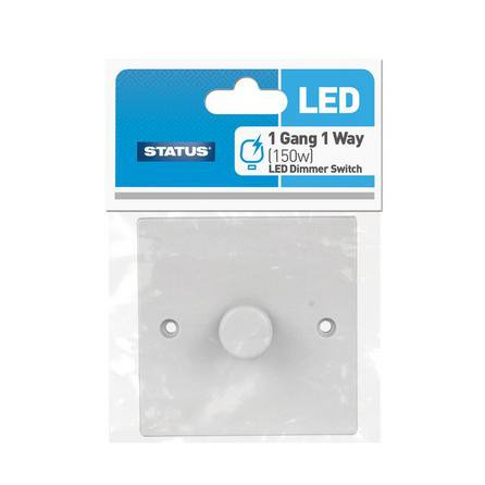 image-Status LED Bulbs Dimmer Switch White