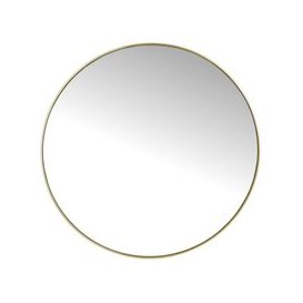 image-Canda Round Mirror with Gold Metal Frame - Small