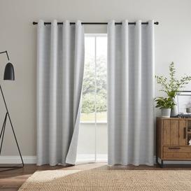 image-Odin Grey Reversible Eyelet Curtains Grey