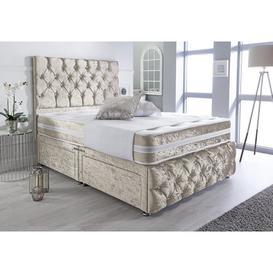 image-Mcgee Luxury Crushed Velvet Divan Bed Willa Arlo Interiors Size: Double (4'6), Storage Type: 4 Drawers