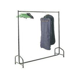 image-Single Garment Rail, Black, Free Standard Delivery