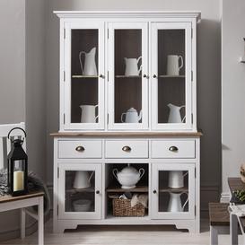 image-Canterbury Dresser Top Large in White and Dark Pine