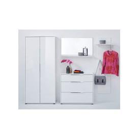 image-Nala Hallway Furniture Set With Wardrobe In White High Gloss