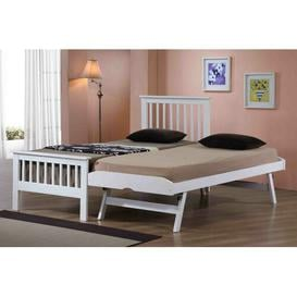 image-Guest Bed with Trundle Brayden Studio Finish: White