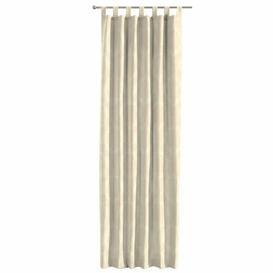 image-Damascus Tab Top Single Curtain Dekoria Size per Panel: 130 W x 260 D cm, Colour: Pale Yellow