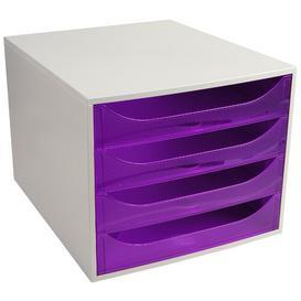 image-Mcdonough Desk Organiser Symple Stuff Colour: Grey/Purple