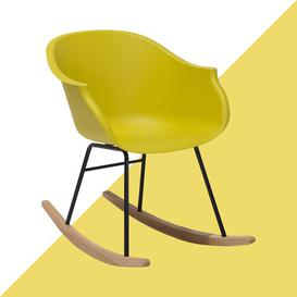 image-Carstens Rocking Chair Hashtag Home Colour: Yellow