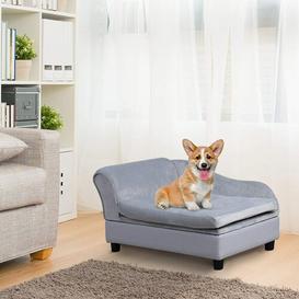 image-Pennie Dog Sofa in Grey Archie & Oscar