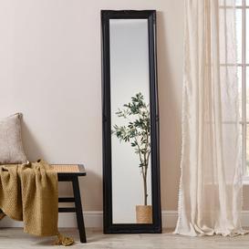 image-Swept Leaner Small Mirror Black