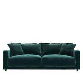 image-Swoon Aurora Three-Seater Sofa in Racing Green Smart Leather With Dark Feet