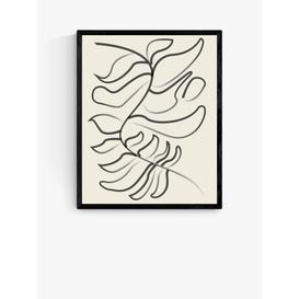 image-Flower Love Child - Sprung Wood Framed Print, 52 x 42cm, Black/White