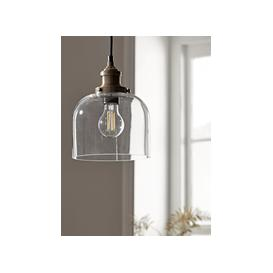 image-Brass & Glass Pendant